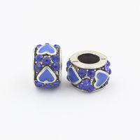 pulseras de bolas collares al por mayor-2 unids Original Exquisito Plata Forma de Corazón de Cristal Charm Ball Fit Pandora Pulsera Collar Accesorios Auténticos
