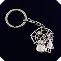 Wholesale wholesale witch balls for sale - new fashion men mm keychain DIY metal holder chain vintage witch refining spider mm key rings