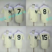 jerseys yankee à bas prix achat en gros de-Hommes 1951 Mickey Mantle 1951 Yogi Berra 1961 Roger Maris 1969 Thurman Munson New York Yankees Throwback Baseball Jerseys Cheap Mix Order