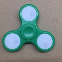 Wholesale Double Side Box - 2017 Hot New Colorful Double-sided light Decompression Toys Light up Hand Spinners LED Bright Fidget Spinner Triangle with Retail Box