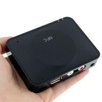 mini hoparlör bluetooth toptan satış-Freeshipping Mini Kablosuz NFC Bluetooth 3.0 Ses Alıcısı Ses Sistemi Alıcı Ses Hoparlör NFC Özellikli Bluetooth Müzik Alıcısı