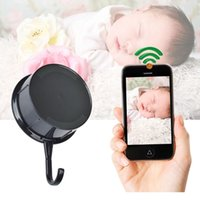 Patère Espion Caché Pas Cher-WIFI Clothes Hook Caméra cachée HD 1080P Wireless Spy Coat Hanger Caméra crochet mural DVR avec Motion Dection Remote Baby monitor