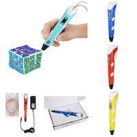 Wholesale 3D Printing Pen With Free Filament For Designers Drawing D air pen D Stereoscopic Printing Pen similar with doodler