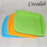 Wholesale Electronic Cigarette Tray - Newest Nonstick wax silicone square wax deep dish box dry herb vaporizer Silicone Deep Dish Tray Container for Electronic Cigarette