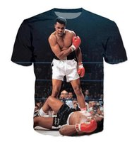 Wholesale 5xl Funny T Shirts - Newest Fashion Womens mens Character Muhammad Ali Summer Style Funny 3D Print Casual T-Shirt AB06