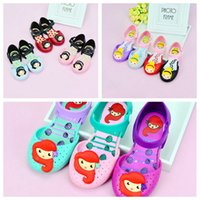 Wholesale Girls Pattern Boots - Child shoes Mini melissa girl sandals plain rain boot baby summer jelly children toddler kids shoes 14-16 CM