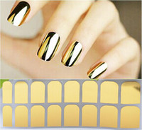Wholesale golden nail stickers - 19 Designs 3D Tip Nail Art Sticker 16sheets pcs Black Golden Silver Leopard Style DIY Nail Beauty Decorations Tools High Quality