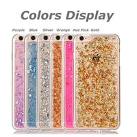 Wholesale Faceplate Design - Iphone 7 7 plus 6s Case Soft Clear Cases Luxury Bling Sparkle Faceplate Colorful Leaf Design Semi-transparent Flexible Soft TPU Case