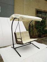 Wholesale Wholesale Garden Seats - Double-seat rattan rocking hangingchair,wicker swing chair ,Garden patio,Rattan Hanging Chair,Outdoor wicker swing chair