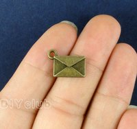 70pcs-Antique Bronze love Signs Letters Envelopes Charms Pendants Лучшие подарки для прекрасного коннектора DIY Jewelry Making