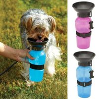Wholesale 3 Colors cm Auto Dog Mug Puppy Travel Walking Hiking Water Bottle Dispenser Feeder Dog Cat Drinking Bottle CCA6805