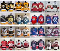 Wholesale Ice C - Throwback Jaromir Jagr Hockey Jerseys Pittsburgh Penguins New Jersey Devils New York Rangers Vintage 68 Jaromir Jagr Stitched Jersey C Patch