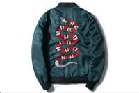 abrigo chaqueta militar prendas de vestir exteriores al por mayor-Ma1 Bomber Jacket 2017 Pilot Outerwear Army Green Flight Coat Streetwear cazadora militar táctico chaqueta de vuelo para hombres