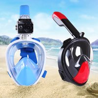 Wholesale New Underwater Scuba Anti Fog Full Face Diving Mask Snorkeling Set Respiratory masks Safe and waterproof