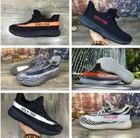 Wholesale Mens Stripe Soccer - New Boost 350 V2 mens shoes Beluga stealth grey Sply-350 Black Peach Turtle Dove sports sneaker athletic women running trainer Red Stripe