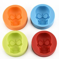 Wholesale Silicone Mould For Cupcake - Creative Skull Head Silicone Mold for Cake Chocolate Cookies Baking Moulds Cupcake Kitchen Craft Tool Bakeware Pastry Tools CCA6536 300pcs