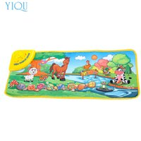 Wholesale Play Zoo - Wholesale- YIQU Hot Kids Baby Zoo Animal Musical Touch Play Singing Carpet Mat Toy SEP02