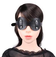 Wholesale Sexy Adult Ladies - Black Sexy Lady PU Mask Blindfold Eye Mask Patch Bondage Flirting bdsm Bondage Sex Toys For Couple Adult Mask Women