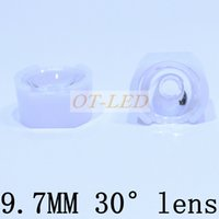 Wholesale led holder lens - Wholesale- CREE XP-E XPE  XP-G XPG   XT-E XTE 3535 LED Lens 9.7mm white holder 30degree 10pcs lot