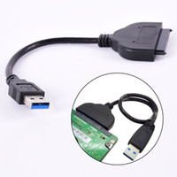 sert toptan satış-Toptan-Sıcak Satış USB 3.0 Sata 22 Pin 2.5 Inç Sabit Disk Sürücüsü SSD Adaptör Kablosu Yeni