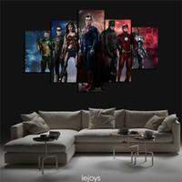 Wholesale batman sheets - 5 Pieces.Justice League Batman Vs Superman,Home Decor HD Printed Modern Art Painting on Canvas (Unframed Framed)