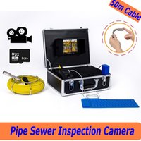 Wholesale Medical Lcd - free shipping WP71 50M Sewer Drain Pipe Inspection Camera System 7'LCD Video Snake Pipeline Endoscope Borescope underwater mini Camera ANN