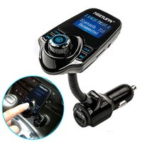T10 kit voiture LED d'affichage MP3 Player Audio Bluetooth Transmetteur FM Support TF carte USB Bluetooth voiture sans fil de recharge