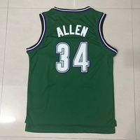 Wholesale Green Ray - Men's Ray Allen jersey Hunter Green Hardwood Classic Swingman basketball jetseys 100% stitched fast shipping