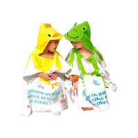 Wholesale Green Blue Bath Towels - New Born Baby cartoon animal modeling bathrobes  bath towels