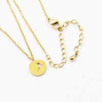 Wholesale Cute Tattoos Women - Wholesale 10Pcs lot 2017 Fashion Stainless Steel Jewelry Pendant Simple Circle Cute Small Bird On a Branch Tattoo Choker Necklaces For Women