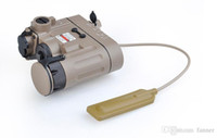 Wholesale Ir Rifle - Wholesale-Tactical Flashlight IR Laser and Led Torch Black EX 328 DBAL-EMKII free shipping