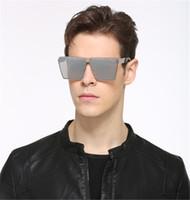 bayan güneş gözlüğü altın toptan satış-Moda Marka Tasarımcısı Kare Güneş Gözlükleri Ayna Kadınlar Plaj Sürücü Güneş Gözlüğü Erkek Gözlük Hip Hop gül altın Çerçeve Lady Erkek 2017