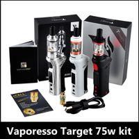 Wholesale Vaporesso Target Vtc 75w - Vaporesso target VTC 75w Starter Kit Complete Target Tank and arget 2 VTC 75W Box Mod CCELL Ceramic Coil VS IJUST2 istick pico
