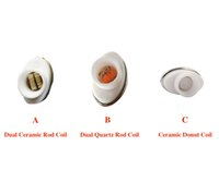 Wholesale Double Clearomizer - Full Ceramic wax coil atomizer dual heating core clearomizer ceramic donut coil for micro gpen Elips pen quartz double coil atomizer