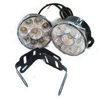 2piece / lot 9LED ronde Daytime Driving Running Light DRL Car Fog Lamp Headlight Blanc
