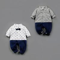 Wholesale Jumpsuit New Design - RMY30 New Arrivals baby Gentleman kids Rompers Mustache Design baby Kids Climbing Jumpsuit & Rompers 2 Styles Outwear Rompers