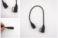 Wholesale Cable Ami Audi Q5 - AUX Interface AMI MMI USB Flash Drive Cable Adapter For Q5 Q7 R8 A3 A4 A5 A6 TT Free shipping