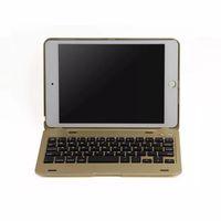 elma ipad mini için klavye toptan satış-Taşınabilir Kablosuz Bluetooth 3.0 Klavye kılıf ile iPad Mini 4 için Tam Koruyucu Standı Kapak Kılıf F1 +