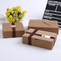 corrugated paper groihandel-50 PC gewelltes Kraftpapier-Kasten-Juwel-Geschenk-Seifen-Kasten-Papierverpackungs-Geschenk-Kasten, handgemachtes Lebensmittelpaket der Hochzeit