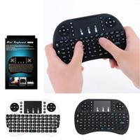 beste mini-wireless-tastatur großhandel-Beste Rii i8 Fly Air Maus Mini-Tastaturen Drahtlose Tastatur Multi-Media-Fernbedienung Touchpad Handheld für TV BOX X96 A95X MXQ Pro