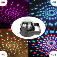 Wholesale magic crystal ball led remote - 7 Colors Led DJ Disco Light 3W LED Crystal Magic Ball Light Sound Activated Stage Lights with Remote for Party Xmas Wedding KTV Bar Club Pub