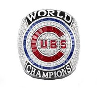 Wholesale Silver Ring Free Dhl - Free Shipping high quality 2017 Wholesal 2016 Chicago Cubs World Series Championship Ring Size 8-13 (More than 20pcs DHL free shipping)