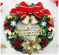 Wholesale Prop Store - 2016 creative christmas wreath store props wall act the role ofing door decorative window 34-wjw