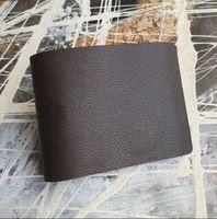 Wholesale Black Suit Men Leather - Free Shipping!2016 Genuine Leather Men Short Wallet M men's credit Card holder Suit Wallets With Box 60895,62663