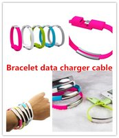 Micro USB blue cord bracelet - Mini colorful portable Micro USB Cable Bracelet Charger Data Sync Cord for Android cellphone iphone