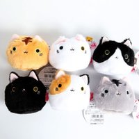 Wholesale family dolls - Wholesale- Cute Japanese Style Dumplings Big Cats The Cats Family Small Pendant Doll Plush Toy