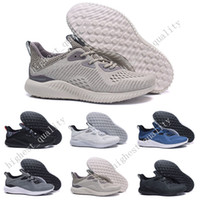 Wholesale Alpha Leather - Wholesale Cheap Hot Sale Alphabounce EM Boost 330 Running Shoes Alpha bounce Sports Trainer Sneakers Man Shoes With Box Eur 40-45 US 7-11