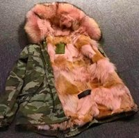 Wholesale Sweden Canada Parka - Mr & Mrs Italy Women's Green Mini Coyote fur lining Parka With Raccoon Fur-trimmed Hood Canada Sweden