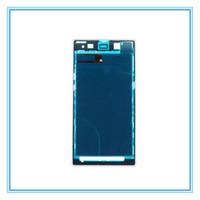 замена для sony xperia z1 оптовых-Высокое качество новые запасные части передняя рамка корпус рамка пластина для Sony Xperia Z1 L39h C6903 всего продажа белый черный фиолетовый Бесплатная доставка