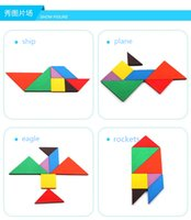 Wholesale Tangram Puzzle Jigsaw - 2017 New Hot Sale Children Mental Development Tangram Wooden Jigsaw Puzzle Educational Toys for Kids